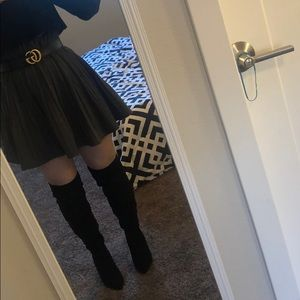 Asos over the knee ruched boots